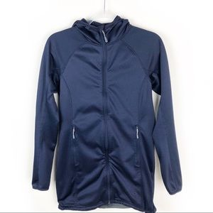 Mountain Hardwear- Hooded zip up sweater size: M